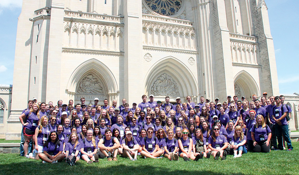 Youth Tour participants visit the National Cathedral